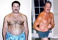 Men's Before and After Weight Loss Transformation